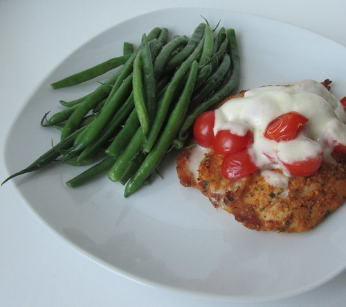 Lazy chicken parm w/ green beans
