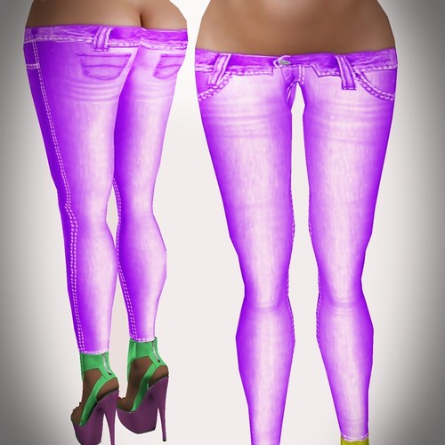 A&A Fashion Spring Jeans A violet