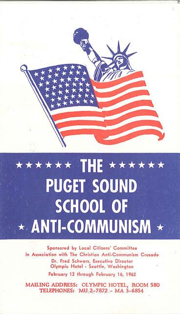 Puget Sound School of Anti-Communism brochure, 1962