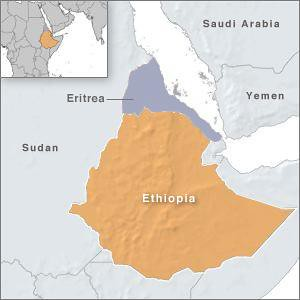 A map of Eritrea and Ethiopia. Eritrea says that Ethiopia's announcement about an attack on its territory is a ploy to cover up the more than a decade-long occupation of a section of the state's land. by Pan-African News Wire File Photos