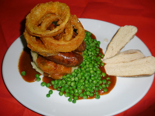 "Sausage and Mash | <a href=""http://www.flickr.com/photos/orwellcrossing/6841558558/"">View at Flickr</a>"