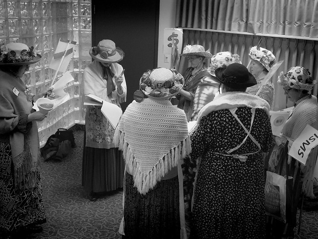 77/366... Raging Grannies prepare.