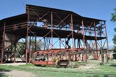 """Estació 1 del """"cable carril"""" fins a la mina La Mejicana"""