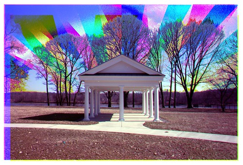 Halfmoon Gazebo - Painted Rainbow Technique