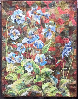 Ice Poppies~ Quilt by Grace Errea