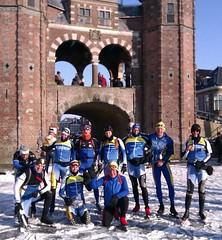 10 DNIJ-ers in Sneek tijdens Elfstedentocht 2012