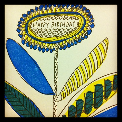 {Day 13: Blue} Happy Blue Letterpress Greetings from a favorite @magmaea #febphotoaday