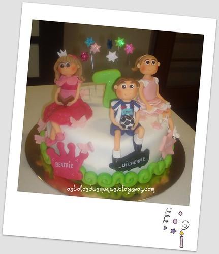 Bolo A Princesa , o Jogador e a Bailarina by Osbolosdasmanas