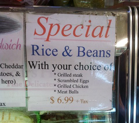 rice and beans size resize