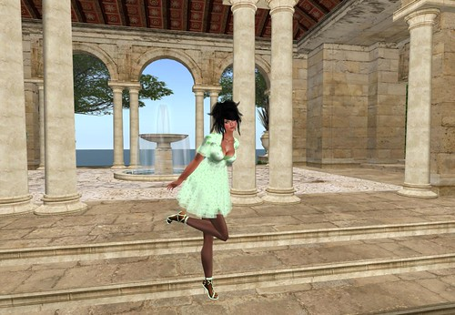 :KR: Madeline Dress w/shoes - Shamrock Light (with group) by Cherokeeh Asteria