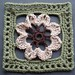 "6"" Framed Brown Flower Square"
