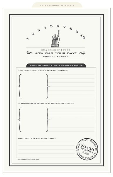 how was your day free printable