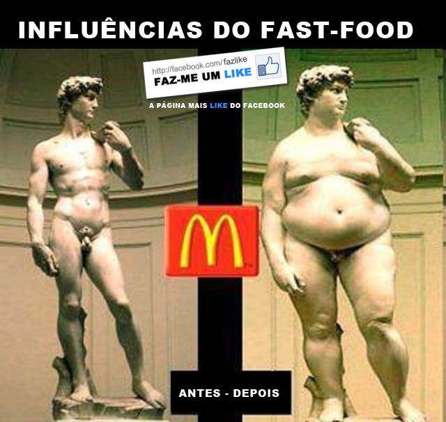 Consequências do Fast-Food - humor satírico