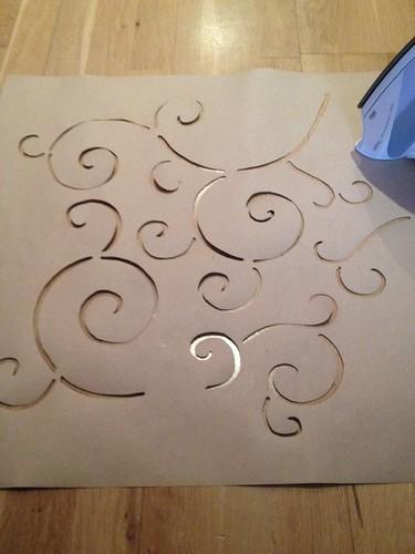 Mi nueva pared hecha con plantilla casera | Hacer bricolaje es ...