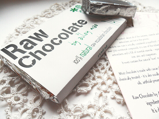 Mint raw chocolate