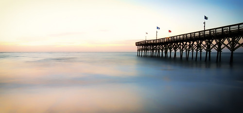 ocean sunset beach water clouds sunrise pier smooth boardwalk dreamy smoothwater