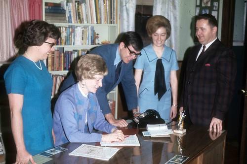 1969-70 Christian Service Staff L Mosier, J Gerig, J Platte, M Grubb, D Baxter