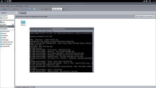 Copiando los archivos con rsync