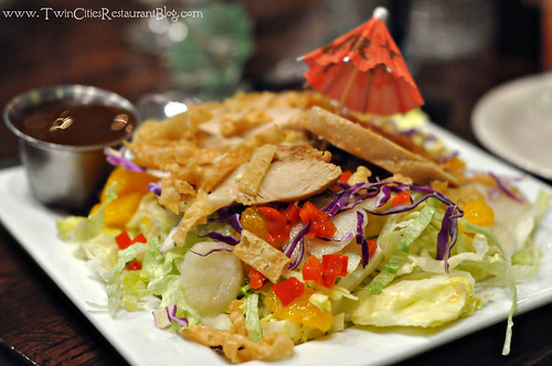 Oriental Chicken Salad at Rudys Redeye Grill ~ White Bear Lake, MN