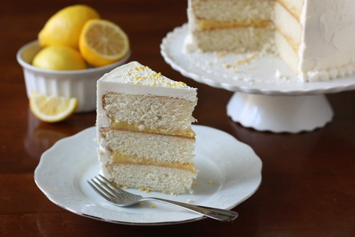 Vanilla Lemon Layer Cake