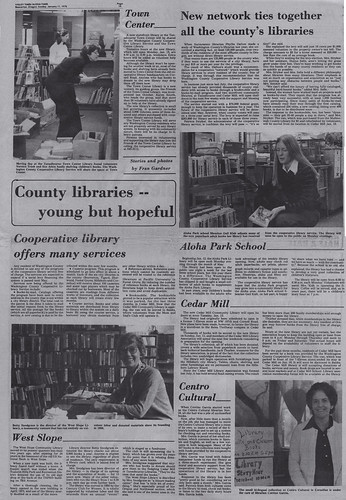 """County Libraries - Young But Hopeful"" - Article dated 1/11/1976"