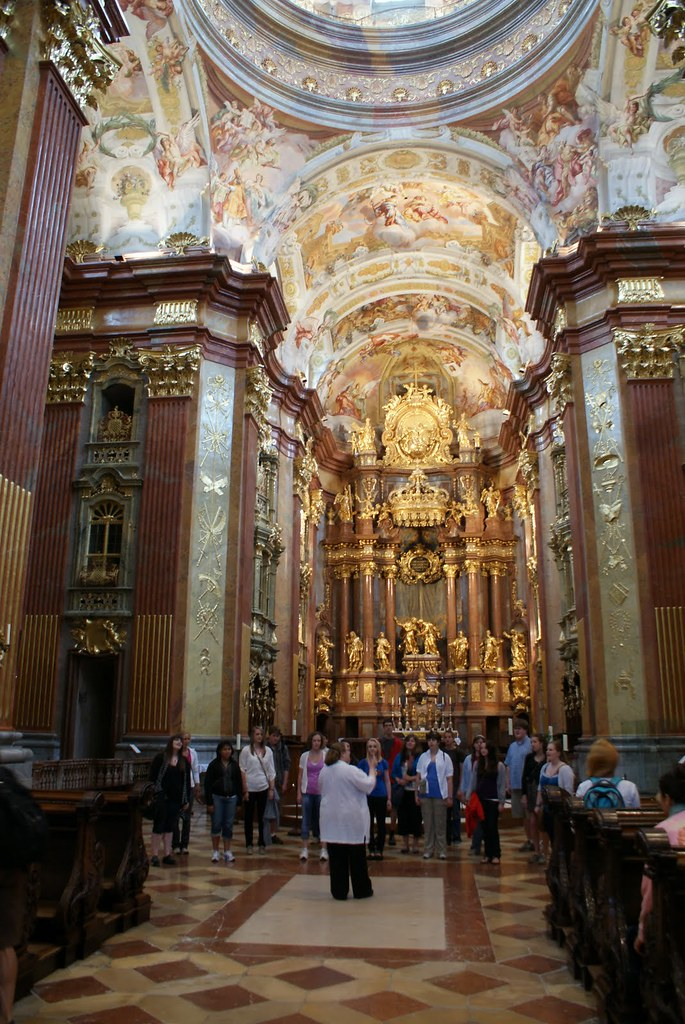 Homestead High School Kammerchor sing at Melk Abbey