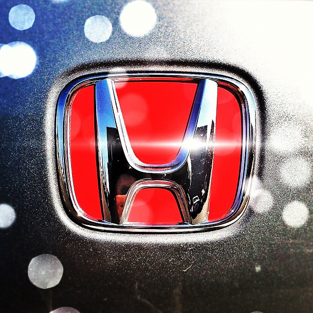 We found this b... Red Honda Emblem