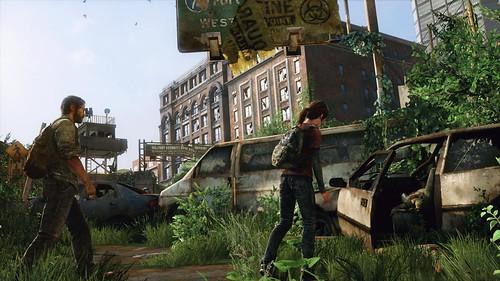 Ellie checks dead body