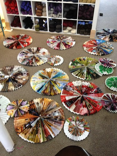 Pinwheels for Tangle's windows