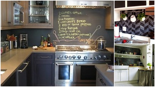 blackboard backsplash
