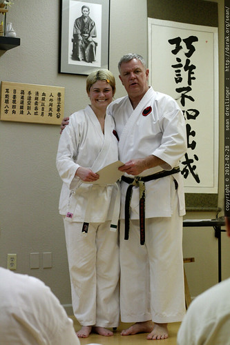 rachel & sensei robert ellis @ karate on main    MG 9582