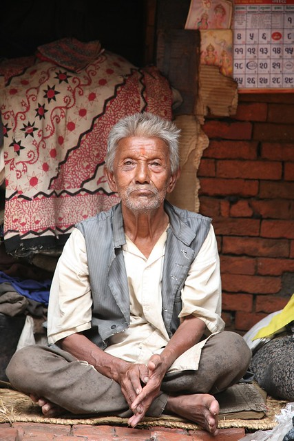 Portraits of Old Age on my Travels Kathmandu Nepal
