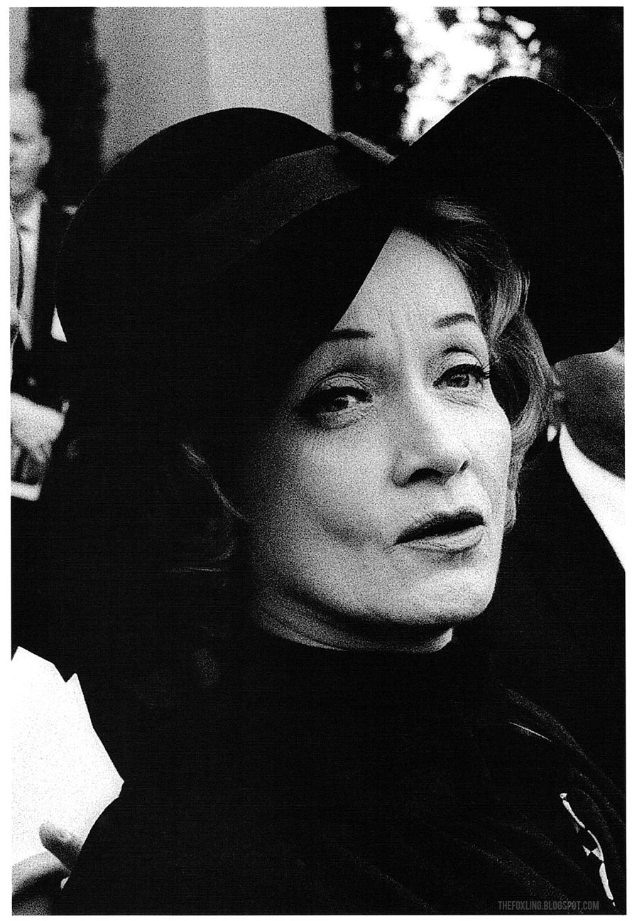 Marlene Dietrich at Gary Cooper's funeral