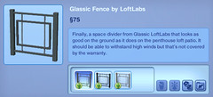 Glassic Fence by LoftLabs