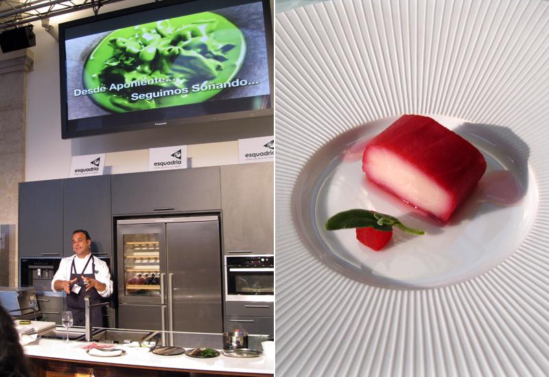 Apresentação de Ángel Léon, restaurante Aponiente
