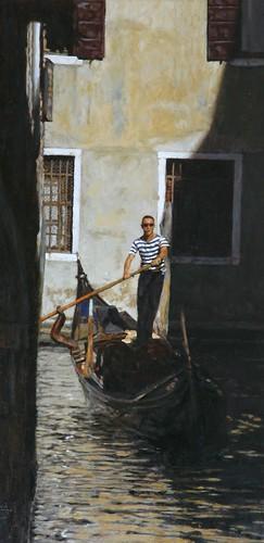 "Venice oil sketch 19¾"" x 9¼"""