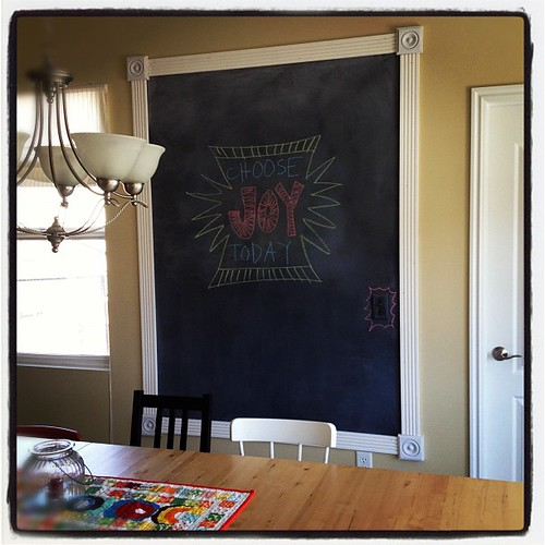 Love love loving my huge kitchen chalkboard!!!