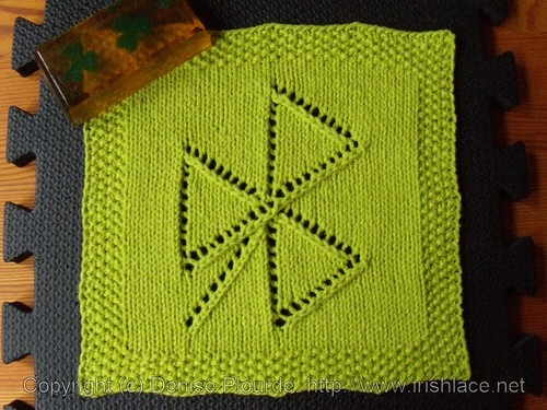 tipsy triangles shamrock washcloth