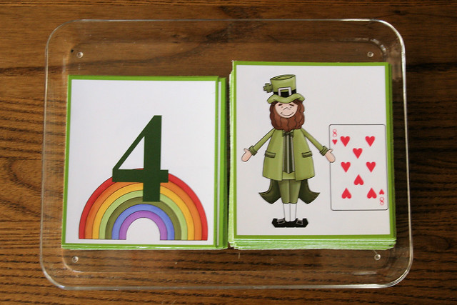 St. Patrick's Day Number Names Tray