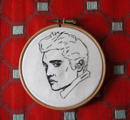 Hunka Hunka Burnin Love  Elvis Embroidery Blogged Here -5612