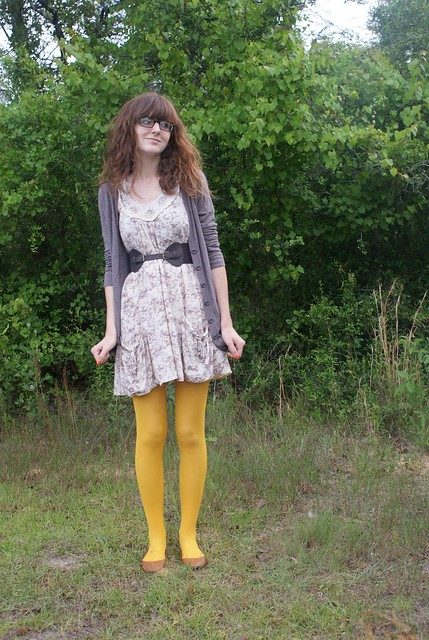 mustard tights three