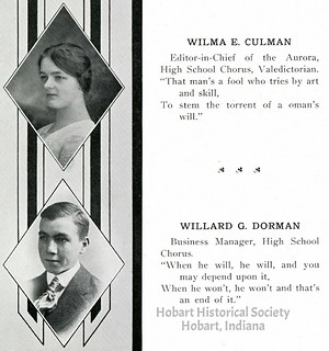 HHS 1919 yearbook, W. Cullman, W. Dorman