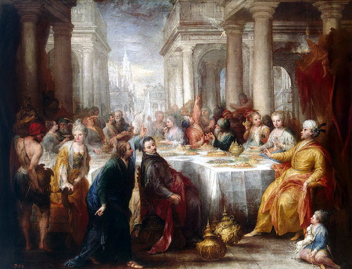 Andrea Celesti - The Feast of Belshazzar [1705] by Gandalf's Gallery