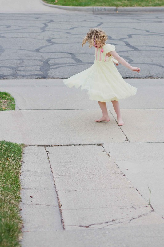 addie and the yellow dress