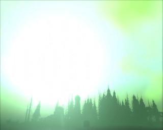 Sun Glare over Old Sardor Night Elf Ruins