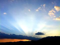 [フリー画像素材] 自然風景, 空, 朝焼け・夕焼け, 薄明光線, 風景 - イタリア ID:201204142000