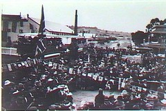 Crowd at Gawler Railway Station,visit of the Prince of Wales, 12 July 1920