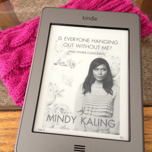 Woo hoo!! I am over the moon that my library has this book electronically! I've been wanting to read it for a long time :) #kindle #reading #mindykaling