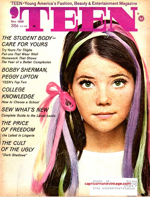 November 1969 Teen Magazine Cover