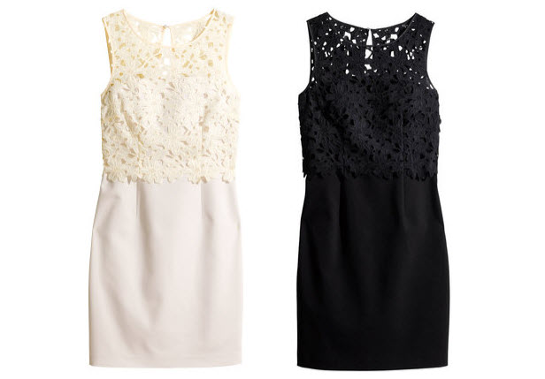 h&m lace top dress